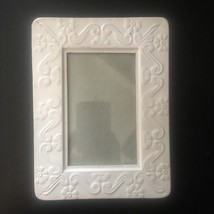 "SHABBY CHIC White Metal Picture Frame 8"" x 6"" VINTAGE Farm House FRENCH COUNTRY image 1"