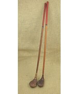 """2 Vintage Hickory wood shaft toy golf clubs woods 26"""" - $24.00"""