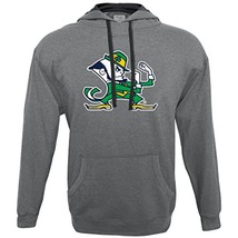 NCAA Notre Dame Fighting Irish Men's Hood 50/50 Fleece Top, Gray, Small - $27.95