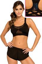 NWT sports bra misses L black back pocket - $22.00