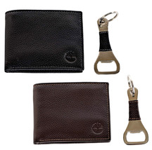 Timberland Men's Leather Billfold Logo Wallet w/Bottle Opener NP0511/01