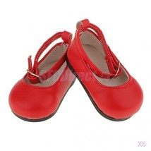 """6x Red Pump Dolly Flat Ballerina Shoes for 18"""" ... - $22.36"""