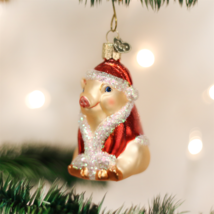 OLD WORLD CHRISTMAS CHRISTMAS HAM PIG FARM ANIMAL GLASS CHRISTMAS ORNAME... - $10.88