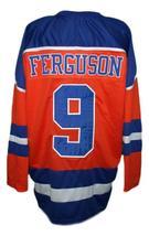 Custom Name # New Jersey Knights Retro Hockey Ferguson Orange Any Size image 5