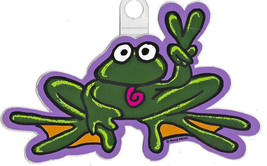 "Peace Frogs - Frog Sticker ~ 6"" x 3"" ~ High Quality Vinyl ~ dark green (... - $6.33"