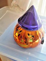 "Christopher Radko Halloween Pumpkin Jack O Lantern Candy Dish 9"" NEW OLD... - $36.62"