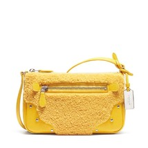 COACH SHEARLING SMALL RHYDER POUCHETTE LEATHER ... - $97.02