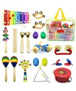 PETUOL Kids Musical Instruments 24pcs Wood Percussion Xylophone Toys for... - $29.89