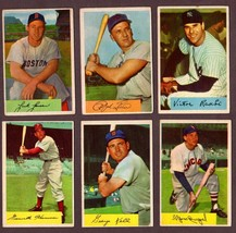 1954 Bowman Baseball Card Lot of 15 w/ Kiner, Hodges, Kell plus Variations - $118.75