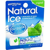 Mentholatum Natural Ice Lip Balm Original SPF 15 1 Each  Pack of 12