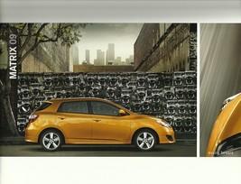 2009 Toyota MATRIX sales brochure catalog 09 US S XRS - $6.00