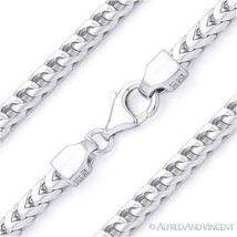 Italy .925 Sterling Silver 4.2mm Arrow Link Franco Chain Men's Italian Necklace - $219.42 - $326.24