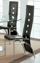 Coaster Contemporary Dining Chairs Black And Silver (Set Of 2) 120282 - $148.49