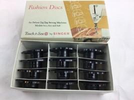 Singer Touch & Sew 12 Fashion Discs Deluxe Zig Zag Machines 620, 625, 62... - $15.45