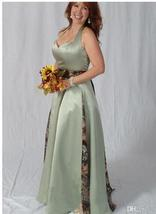 Sexy Halter Camo Wedding Dress 2019 Floor Length Women Bridal Gowns A Line Bride - $123.88