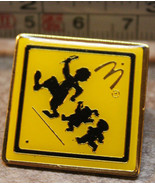 McDonalds Kid Crossing Safety Sign Employee Collectible Pinback Pin Button - $10.49