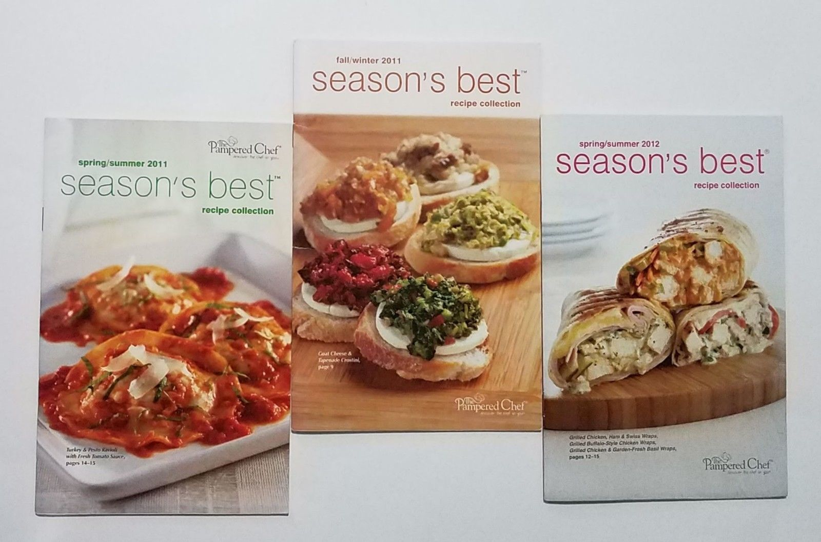 Primary image for Pampered Chef 2011 Spring/Summer & 2012 Season's Best Recipe Collection Books