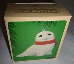 "Hallmark 1984"" Snowy Seal Keepsake Ornament 2"" - $24.75"