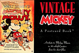 Vintage -  Mickey Postcard Book - 30 Postcards - $25.00