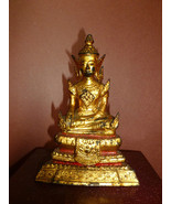 Antique Gilt Bronze Thai Buddha in Royal Dress ... - $275.00