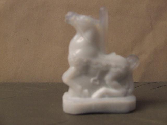 Boyd Art Glass Candy Carousel Horse 2 1/4 in.Tall Milk White Boyd