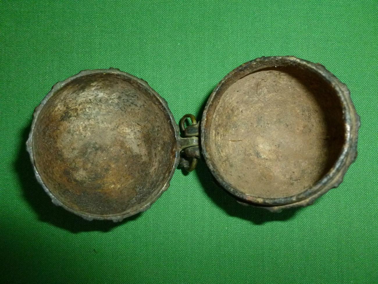 Antique Indian Bronze Betel Nut Box Circa 1860 - 1870