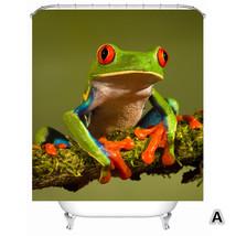 "71""X71"" Waterproof Funny Animal Frog Shower Curtain Digital Printing - $29.50"