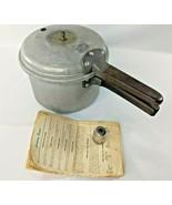 Presto 60 Stovetop Pressure Cooker Vintage w/ Recipes Manual - $37.54