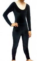 Avenues A606 Black Velvet Adult Large (12-14) Long Sleeve Unitard Catsuit - $29.99