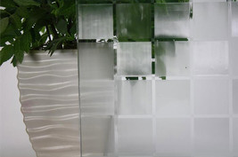 """Frosted Tile Static Cling Window Film, 36"""" Wide x 1 yd. Sold by the yard a roll. - $46.48"""