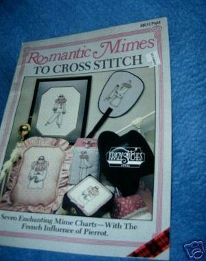 Romantic Mimes to Cross Stitch Booklet Plaid