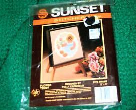 Sunset Stitchery, Flower Teddy Kit #266
