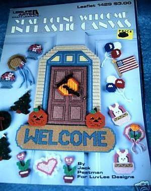 Year Round Welcome in Plastic Canvas Leisure Arts Craft Leaf