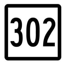 Connecticut State Route 302 Sticker Decal R5237 Highway Route Sign - $1.45+