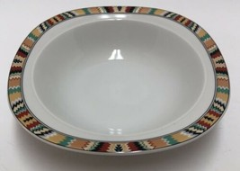 "Mikasa Tamarack Fine China L 5807 Soup Cereal Bowl 8.5"" Southwestern Pat... - $29.69"