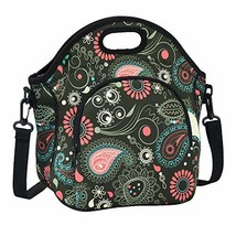 Lunch Box Neoprene F40C4TMP Washable Foldable Insulated Reusable Lunch Bag Women - $14.68