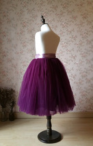 Plum Little Girl Tulle Skirt for Dress up and Fairy Costumes 1-16 image 4