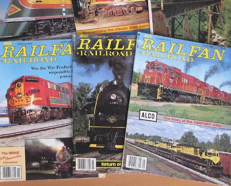 LOT OF 18 TRAINS MAGAZINE January 1995- June 1996