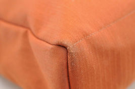 HERMES Acapulco Besace Coton Leather Orange Shoulder Bag Auth 5186 image 9
