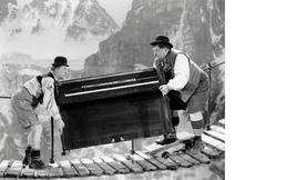 Swiss Miss Laurel and Hardy Piano Vintage 5X7 BW TV Memorabilia Photo - $3.95