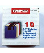 """CompUSA 3.5"""" Floppy Disk 1.44 MB 10 Pack Opened Box - $23.20"""