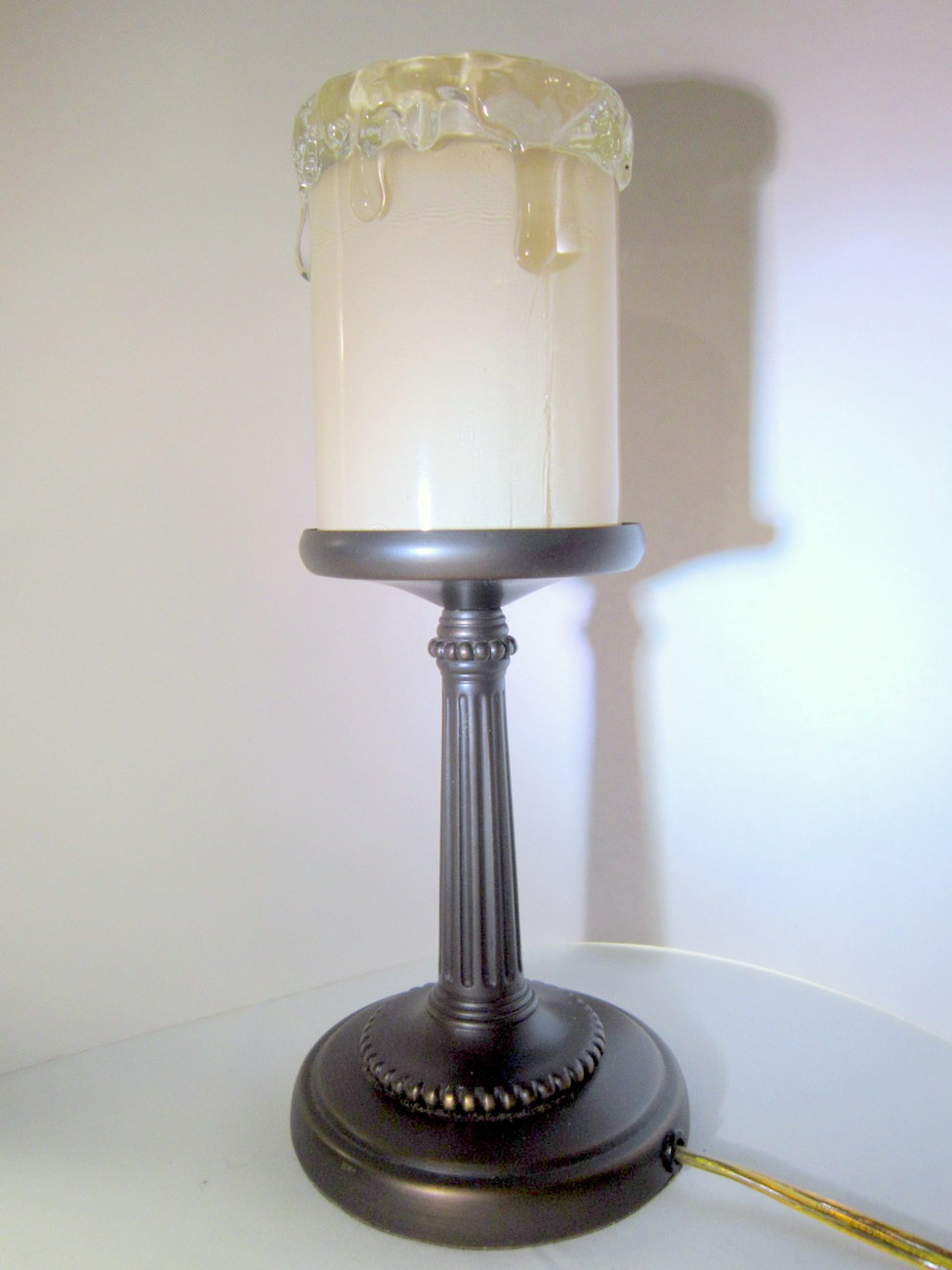Night light candle lamp electric brass 05