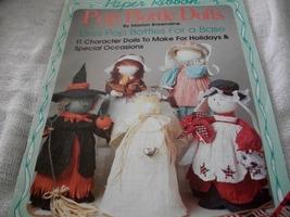 Paper Ribbon Pop Bottle Dolls Craft Book - $5.00