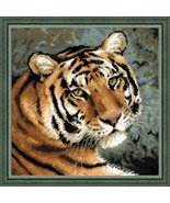 """RIOLIS 1282 - Siberian Tiger - Counted Cross Stitch Kit 16"""" x 16"""" 10 Count 22 Co - $29.99"""