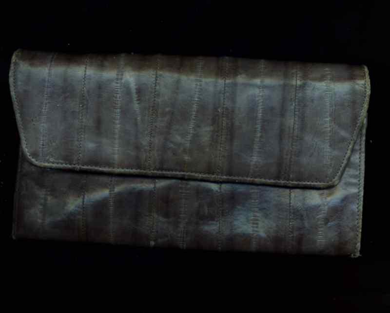 Eelskin Grey Clutch Wallet Bonanza