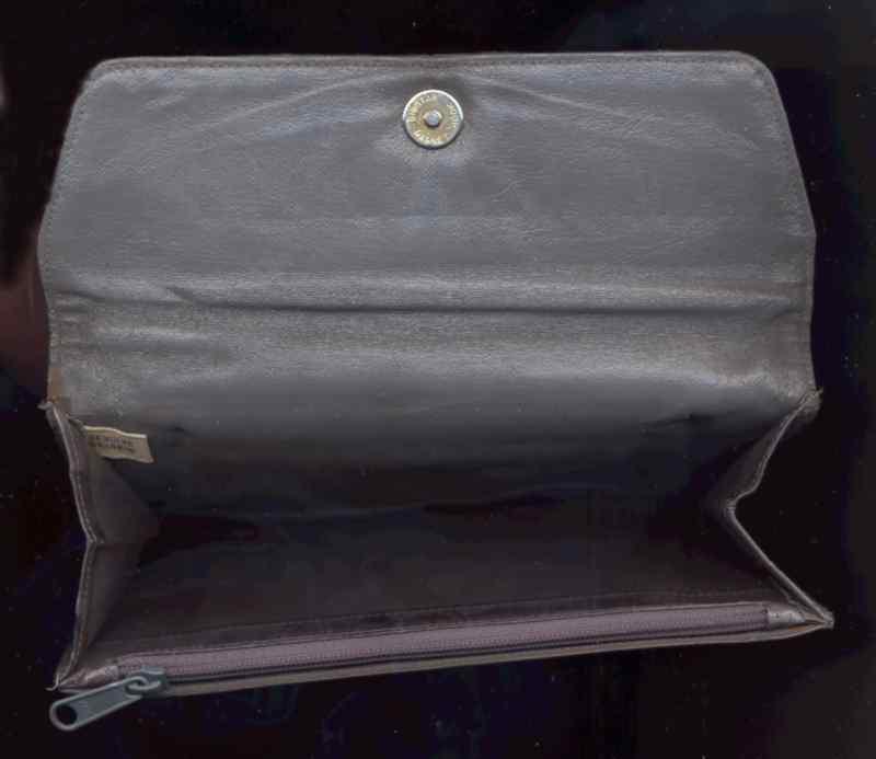 Eelskin Grey Clutch Wallet