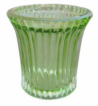Green Votive In Lining Design, Votive for Living Room, Home Decoration - $20.53