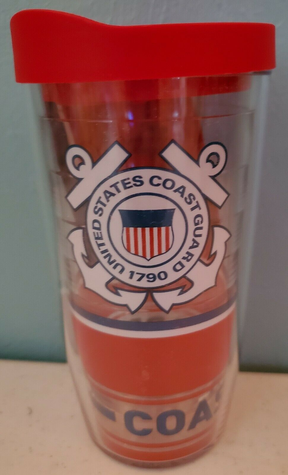 Tervis Coast Guard Wrap With Travel Lid 16 oz NEW - $17.35