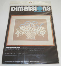 NEW Dimensions Net Darning Lace Kit Blue Ribbon Floral 4800 - $14.80