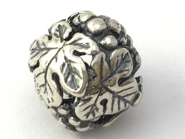 Authentic Trollbeads Sterling Silver Wine Harvest Bead Charm 11329 - $37.99